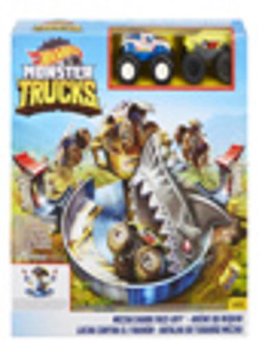 Hot Wheels Monster Trucks Mecha Köpek Balığı Çarpışması Oyun Seti Renkli